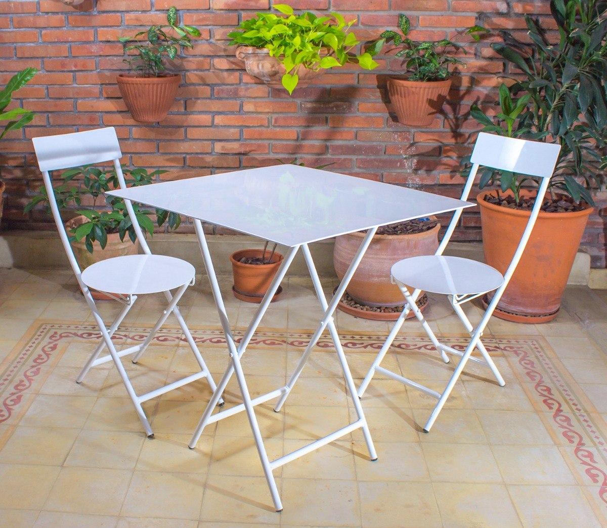 Mesa y sillas para balcon pequeo interesting el jardn for Mesa plegable para balcon