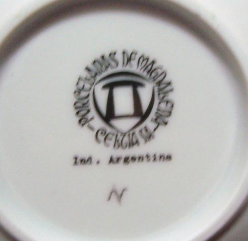 juego porcelana magdalena para cafe - 6 personas