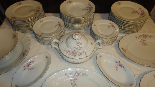juego porcelana vajilla europeo antiguo 12 personas vealo