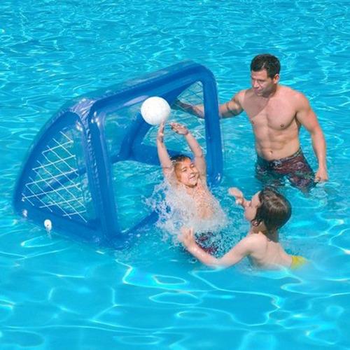 juego porteria inflable para piscina o jardin con pelota int