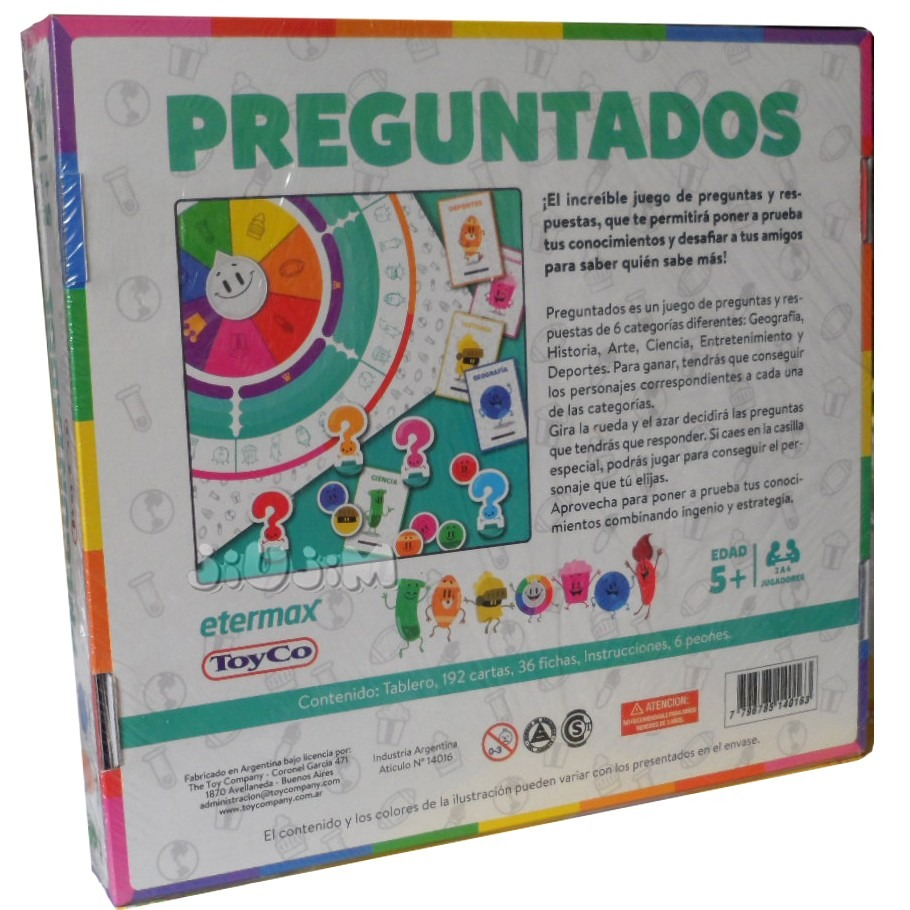 Juego Preguntados Junior De Tv Susana Original Toyco Jiujim 379