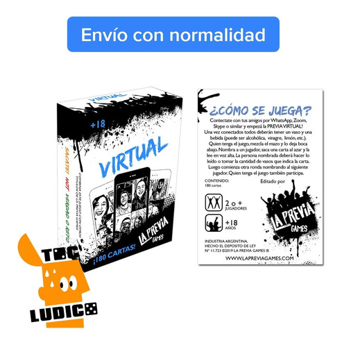 juego previa virtual -  la previa games - toc lúdico