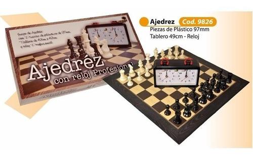 juego profesional con reloj de ajedrez y tablero ventajedrez
