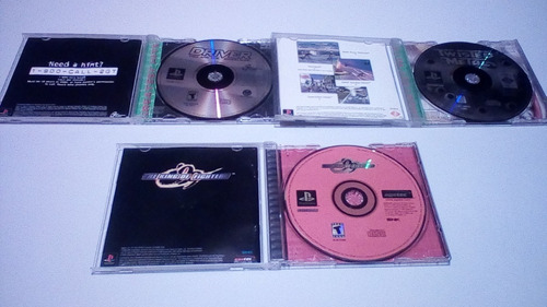 juego ps1 twisted metal, driver, king of fighters.