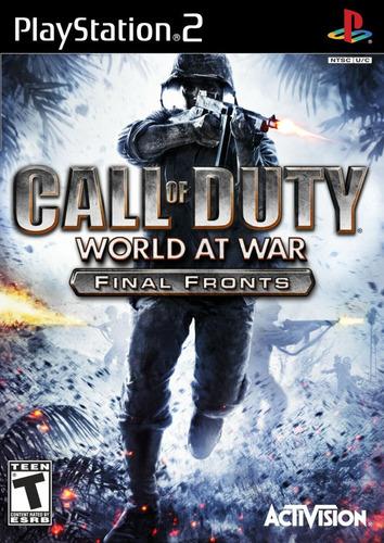 juego ps2 call of duty world at war - refurbished fisico