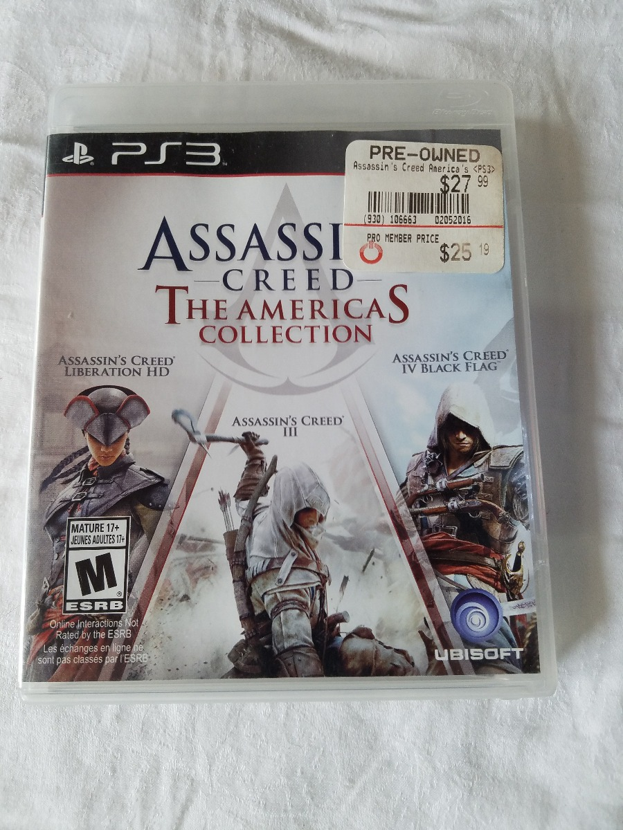 Juego Ps3 Assassin S Creed The Americas Collection Completo