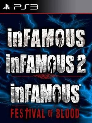 juego ps3 ( no cd) infamous collection 3x1 oferta