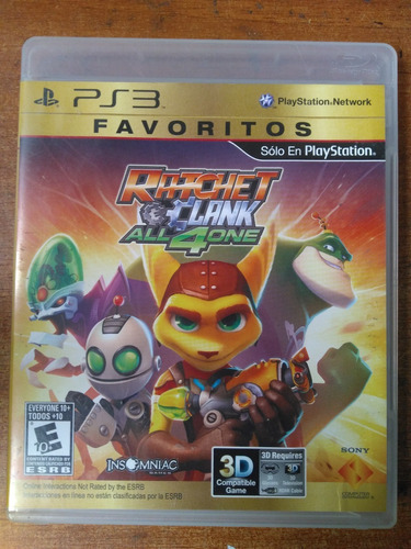 juego ps3 ratchet & clank all 4 one