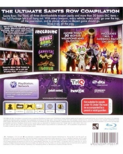 juego ps3 saints row the third the full package nuevo