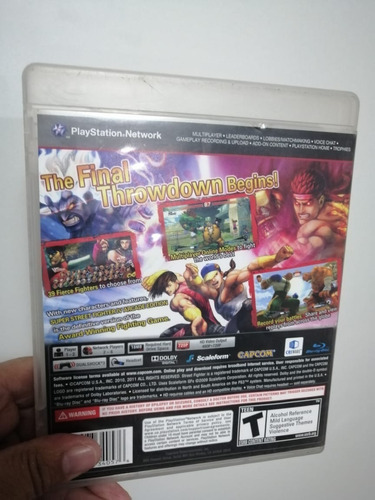 juego ps3 super street fighter iv arcade edition + flete