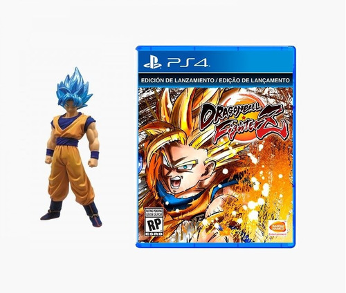 juego ps4 dragon ball fighter z + muñeco goku ssgss oficial