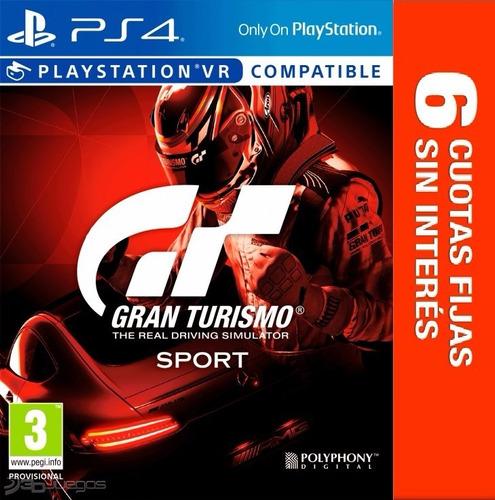 juego ps4 - gran turismo sport - 6 ctas s/int