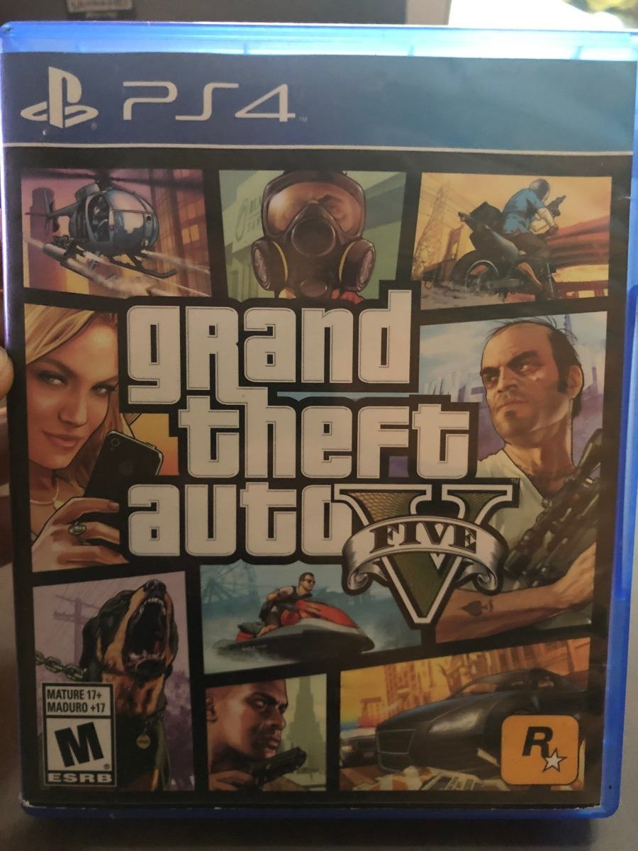 Juego Ps4 Gta V Grand Theft Auto Playstation 4 Mapa Manuales S 89