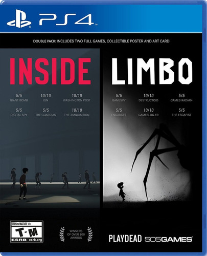juego ps4 inside + limbo double pack - fisico