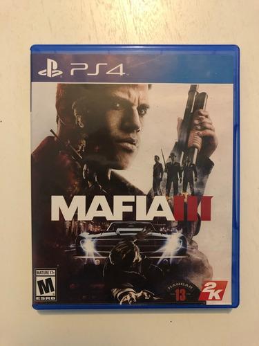 juego ps4 - mafia 3 - usado- excelente estado