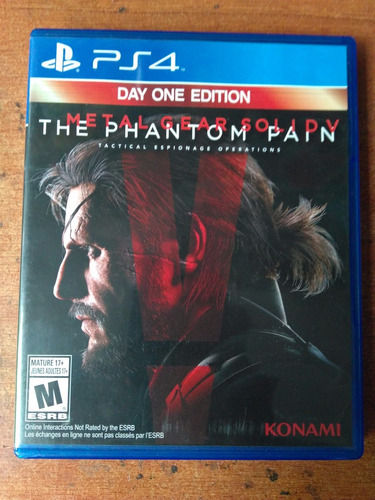 juego ps4 metal gear solid v the phantom pain