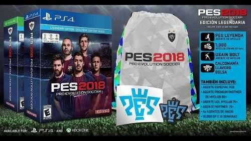 juego ps4 pro evolution soccer pes 2018 edición legendaria