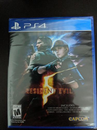 juego ps4 resident evil 5 - original fisico