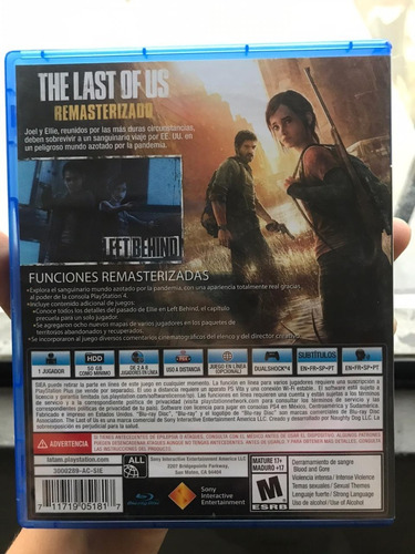 juego ps4  the last of us .