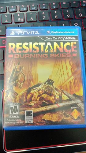 juego psvita resistance burning sikes