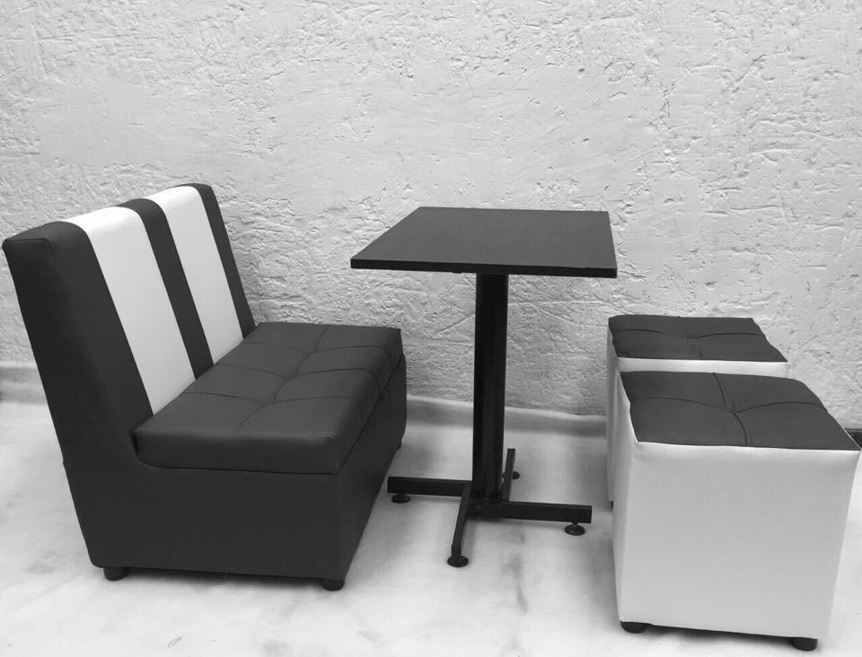 Juego puff silla mesa puff para bar restaurante discoteca - Sillas para cafeterias ...
