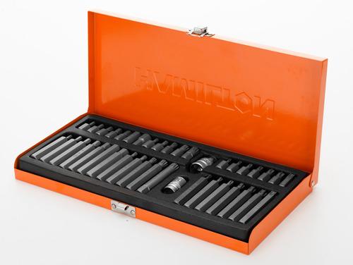 juego puntas torx multiestria 40 pcs caja cv hamilton jt40
