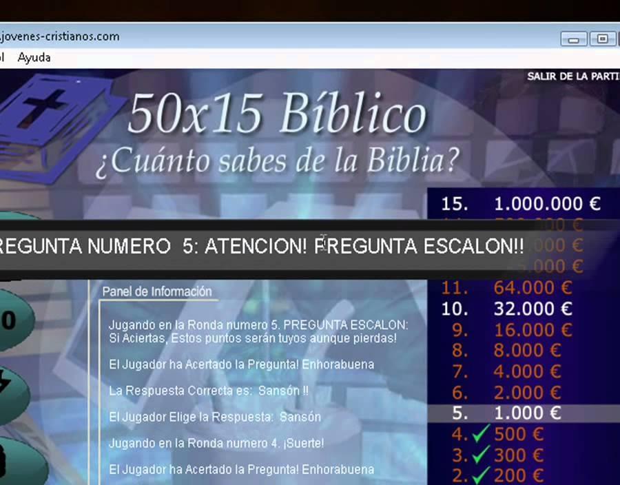 Juego Quien Quiere Ser Millonario Biblico Para Pc Bs 500 00 En