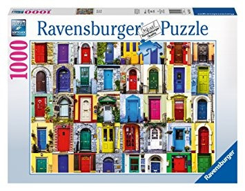 juego ravensburger puertas del puzzle world (1000 piezas)