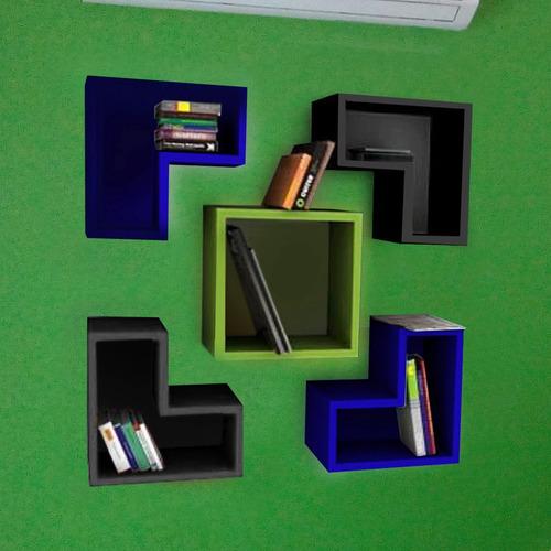juego repisas modernas modelo tetris, grupo creativo df