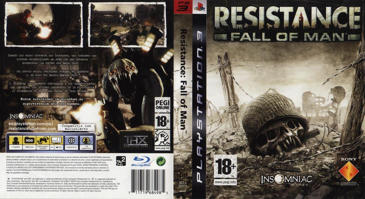 Portada y contraportada del juego Resistance: Fall of Man