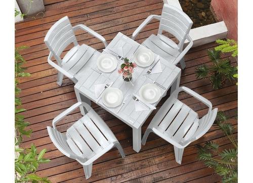 juego rimax plastico mesa y sillas apariencia madera