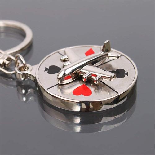 juego rueda ruleta de casino llavero de aleación zinc metal
