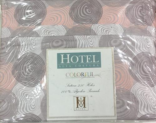 juego sabana hotel 250 hilos queen. algodon egipcio.