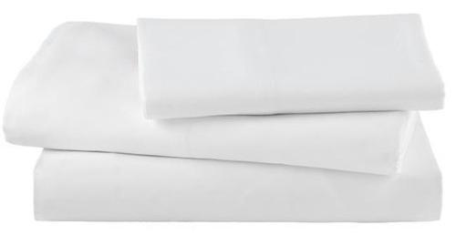 juego sábana percal individual 100% algodón 300 hilos blanca