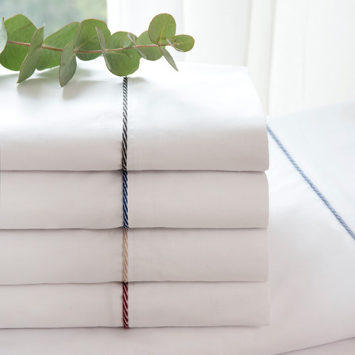 juego sábanas arco iris blancas cordon 2 1/2 200 hilos lujo
