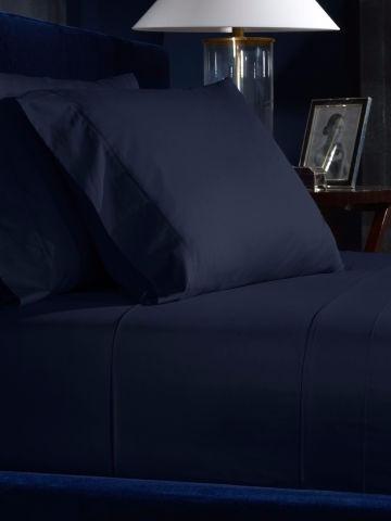 juego sábanas azul oscuro microfibra semidoble unicolor