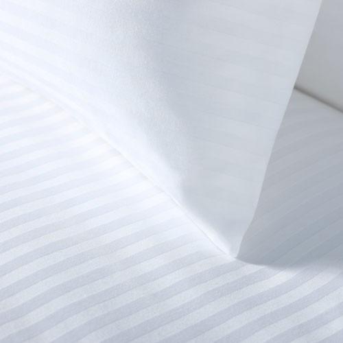 juego sabanas doble microfibra unicolor blanco líneas 1.40 x