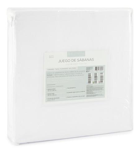 juego sabanas individuales - begônia - blancas lisas c/ bord