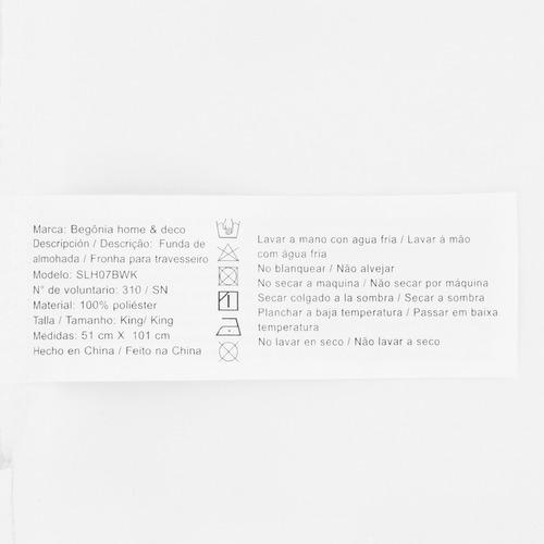 juego sabanas king - begônia - blancas lisas con bordado y de microfibra