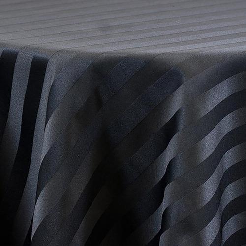 juego sábanas negro líneas microfibra sencillo