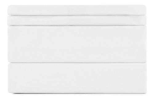juego sabanas queen - begônia - blancas lisas con bordado y de microfibra