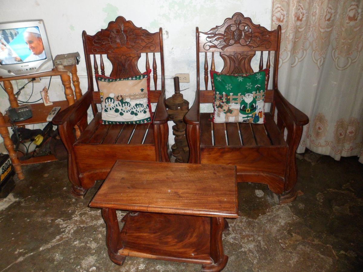 Muebles de madera country juego de sala de saman bs 90 for Muebles sala
