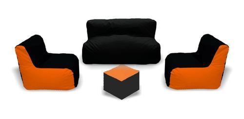juego sala puff : 2 sillas + 1 sofá + obsequio - nueva!