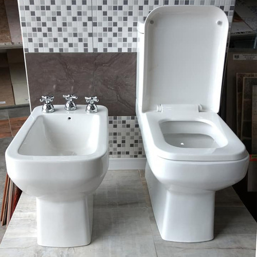 juego sanitarios loza baño cuadrado moderno minimalista loza