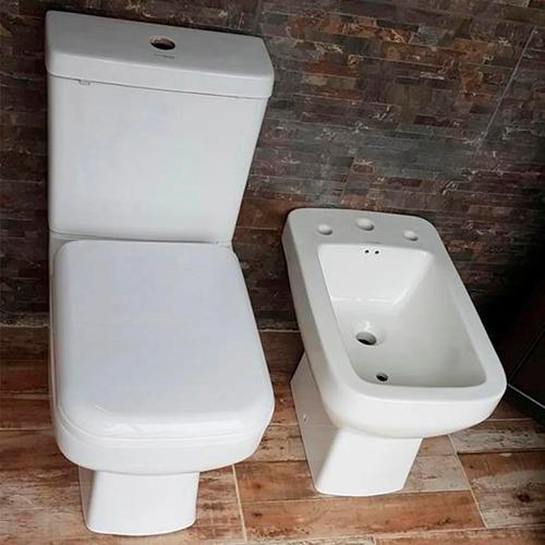 juego sanitarios loza baño cuadrado moderno sin interes