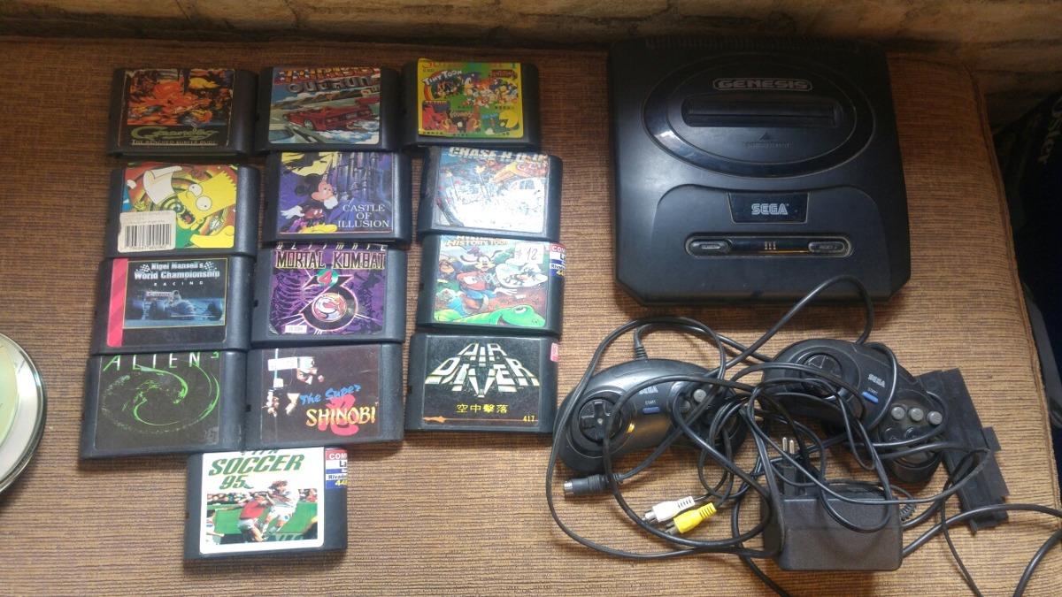 Juego Sega Genesis Mas Cartuchos De Juegos Y Controles 1 500 00