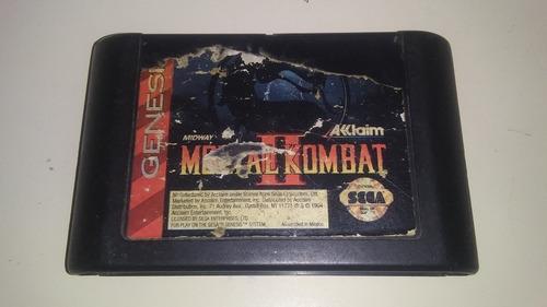 juego sega génesis mortal kombat 2 original. 5v