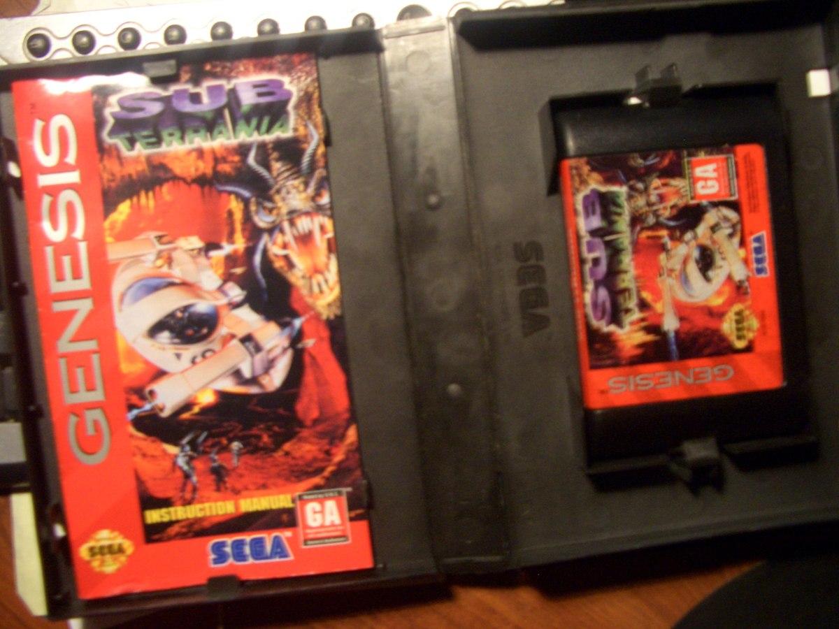 Juego Sega Genesis Original Usa Sub Terranea Caja Manual 790