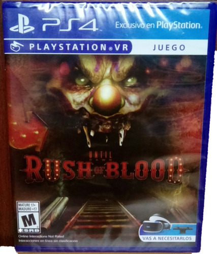 juego sellado psvr ps4 until dawn: rush of blood