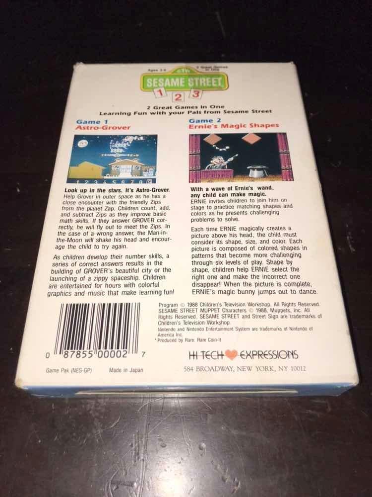 Juego Sesame Street 1-2-3 Para Nintendo Nes!!! - $ 299 00